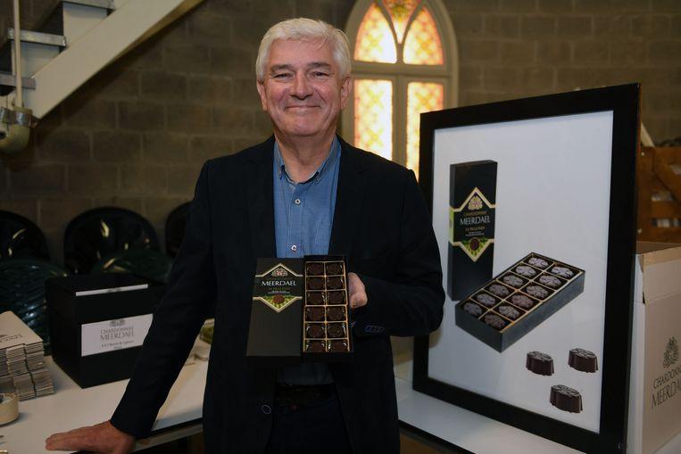 Paul Vleminckx met zijn pralines op basis van mousserende kwaliteitswijn