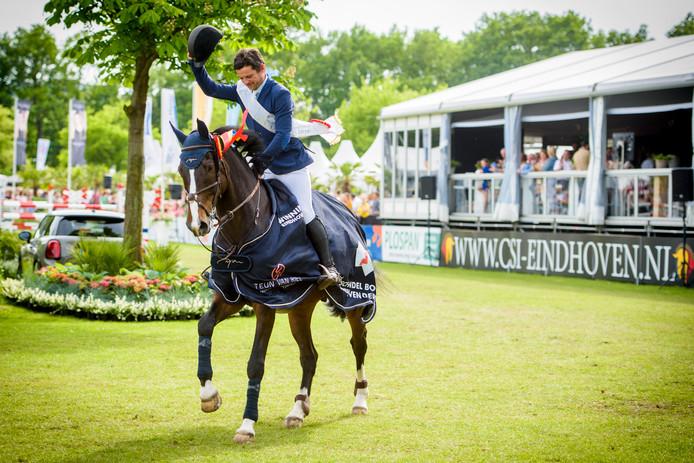 Concours Hippique Eindhoven, nummer 1 van de Derby: Maximilien  Lemercier.