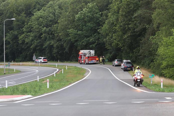 Politieactie op de A1 bij Ugchelen.