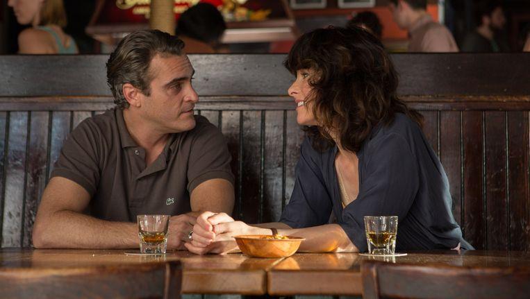 Hoofdrolspelers Joaquin Phoenix en Emma Stone in Irrational Man. Beeld Sabrina Lantos