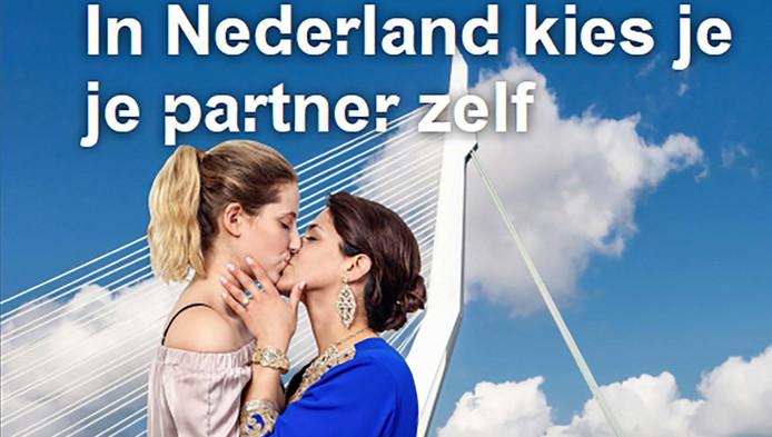Beeld dat de gemeente Rotterdam gebruikt op posters in de abri's en op flyers.