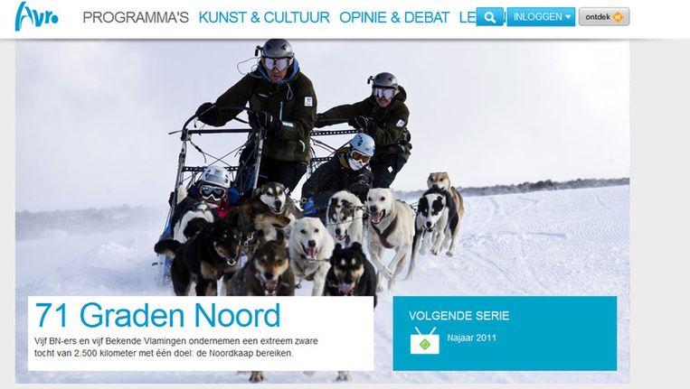 Screenshot Avro-site. Beeld
