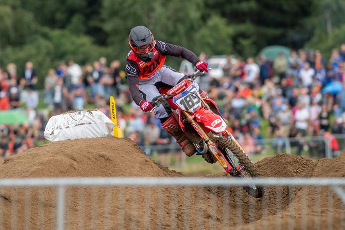 Brian Bogers in actie tijdens de MXGP van Lommel.