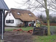 Brand in vloer woonboerderij Putten snel geblust