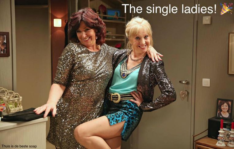 De single ladies in 'Thuis'.