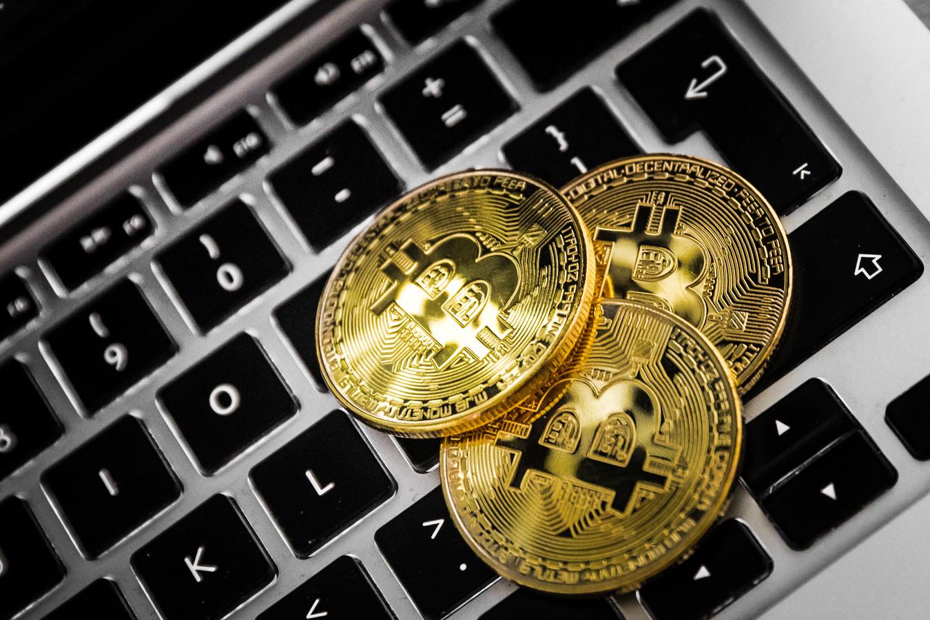 De cryptovaluta Bitcoin. Welke digitale valuta er werd gemined in Rijen, wordt door de politie onderzocht.