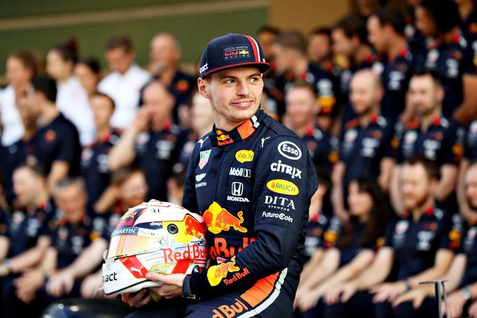 Max Verstappen in Abu Dhabi.
