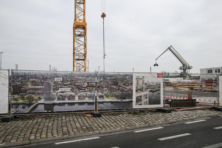 Een vastgoedproject aan de Oude Dokken. Nergens zijn appartementen zo duur als in Gent.