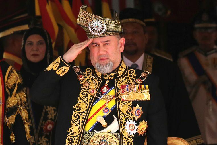 Maleisische koning Sultan Muhammad V.