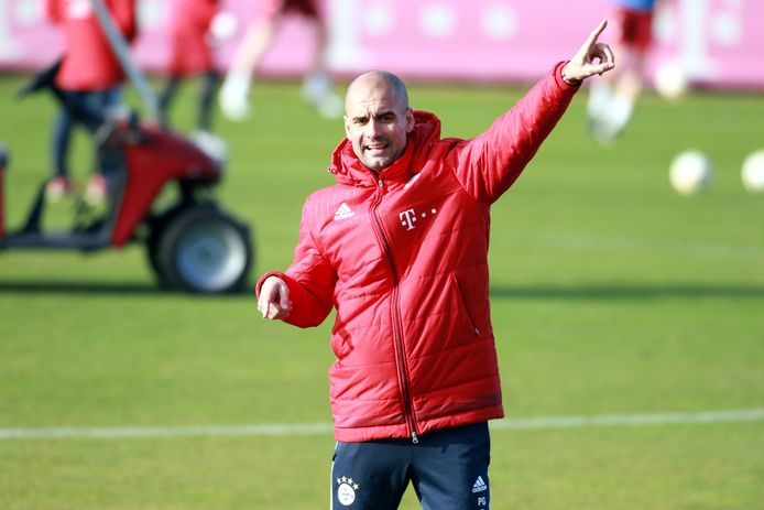 Pep Guardiola als trainer van Bayern München.