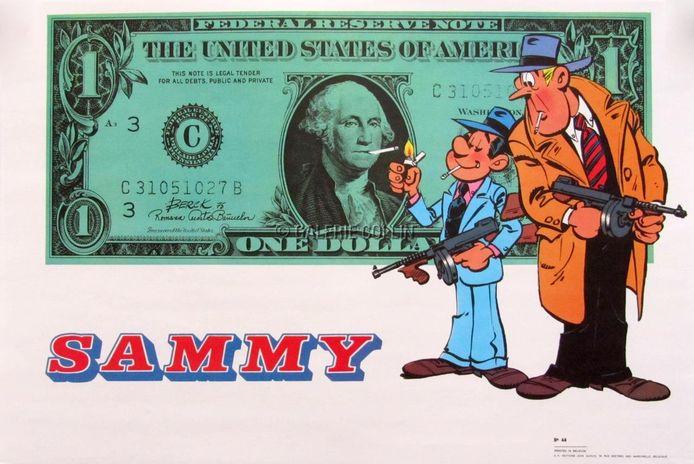 Berck werd vooral bekend met zijn stripreeks Sammy over een detective.
