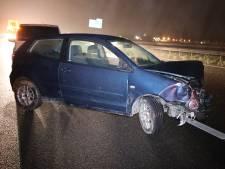 Gewonde bij ongeluk op A59 bij Sprang-Capelle, bestuurder reed zonder rijbewijs en onder invloed