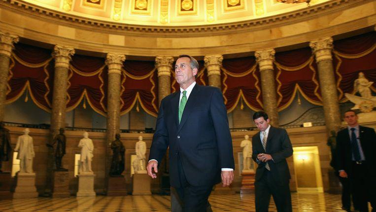 De Republikeinse voorzitter van het Huis van Afgevaardigden John Boehner Beeld afp