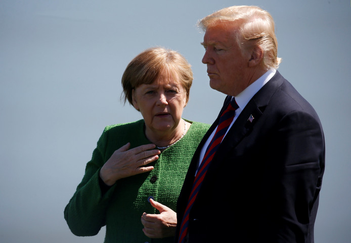 Angela Merkel en Donald Trump