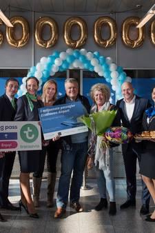 Vijfmiljoenste passagier voor Eindhoven Airport