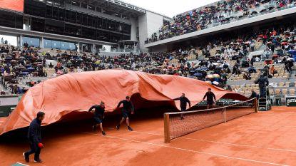 Regen opnieuw spelbreker: Djokovic en Thiem beslechten morgen halve finale Roland Garros