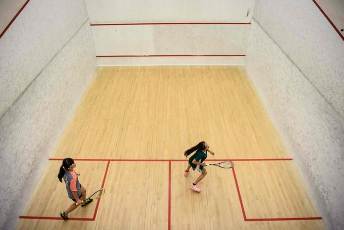 Squash is een van de sporten die tijdens de European Company Sport Games in Ede wordt gespeeld.