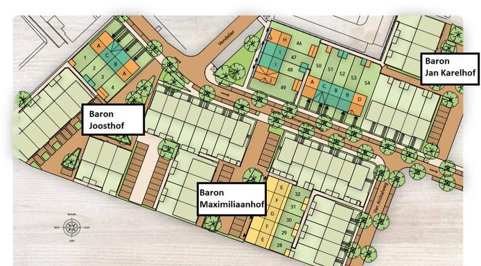 De nieuwe hofjes in Rhenen.