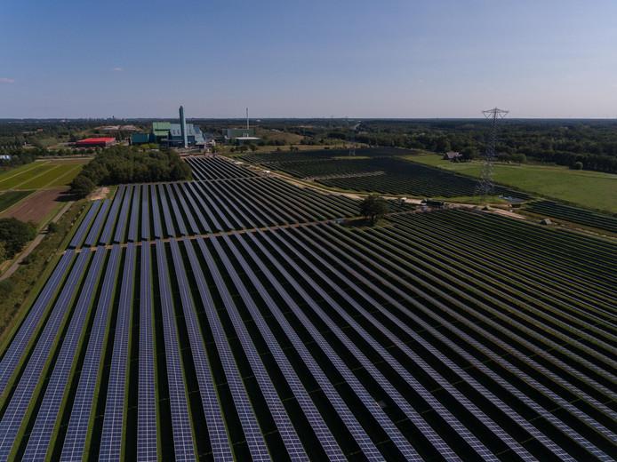 Het nieuwe zonnepark van Twence.