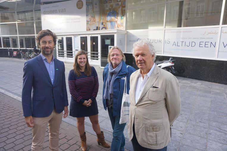 Wouter De Vriendt, Natacha Waldmann, André Baert en Dorian Van der Brempt willen Mu.ZEE een nieuwe impuls geven.