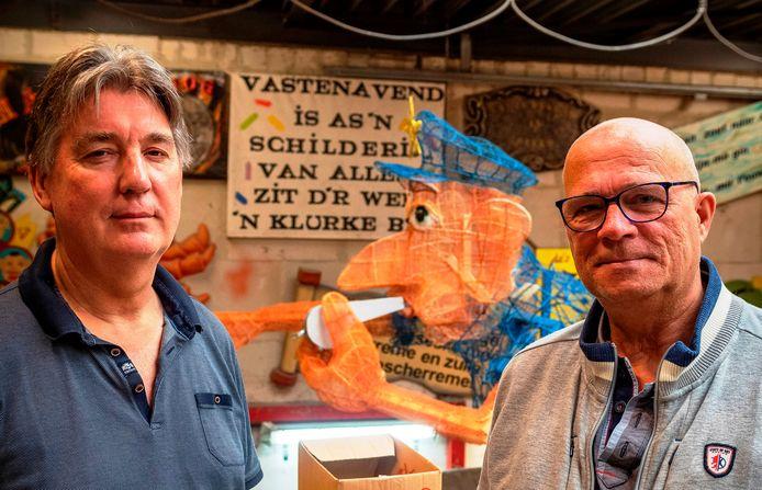 Hans van Balen en Ron den Houting van Stichting Bergse Bouwers: schouder aan schouder om uit impasse te raken.
