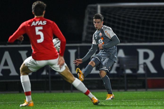 Volendam-rechtsbuiten Nick Doodeman (23) gaf liefst acht assists in 106 speelminuten voor FC Volendam.