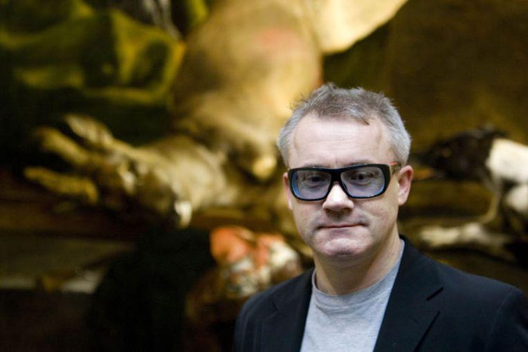 Rijksmuseumdirecteur Wim Pijbes noemt Damen Hirst (foto) de ideale museumgids: ,,'For the Love of God' stelt ons vragen over waarde, tijd en geld. Hirst maakt het Rijksmuseum actueler dan ooit.'' Foto's GPD Beeld