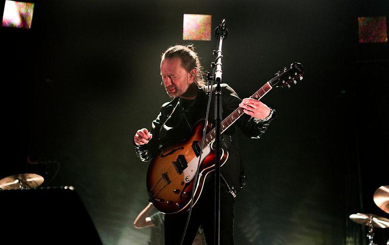 Leadzanger Thom Yorke van de Britse band Radiohead tijdens een concert in de Heineken Music Hall op 20 mei 2016. Beeld anp