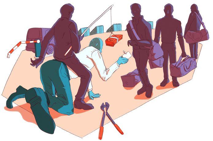 Snel geld is een lokmiddel van criminelen om havenwerkers in te palmen.