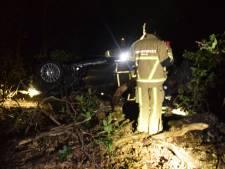 Man rijdt mogelijk met slok op het bos in bij Ambt Delden en raakt gewond