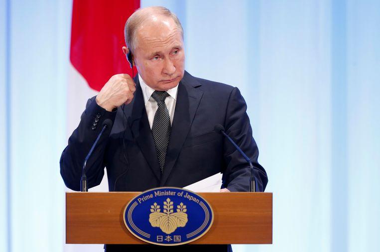Poetin is momenteel in het Japanse Osaka voor de G20-top.