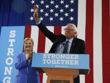 Sanders steunt voormalig rivaal Hillary Clinton