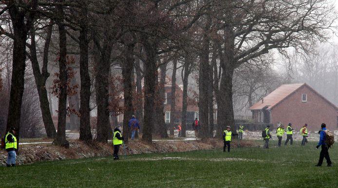 De zoektocht naar de vermiste Bart van Betuw (53) op de Wamberg tussen Rosmalen en Berlicum.