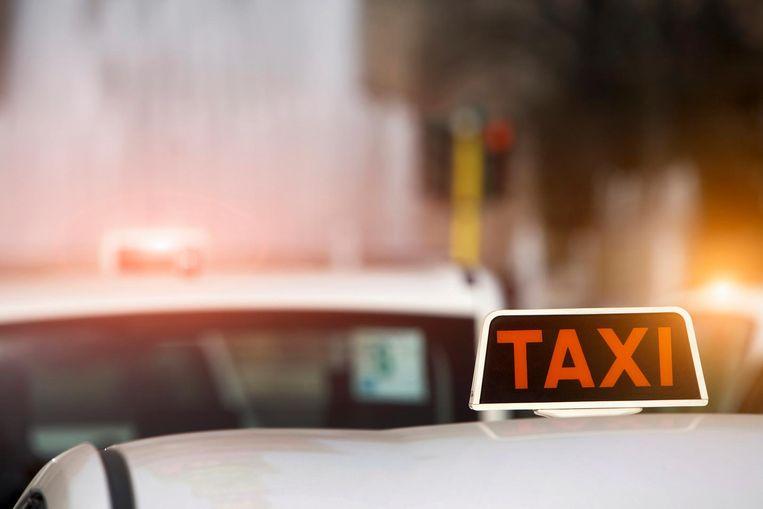 In Kortrijk werden taxi's gecontroleerd.