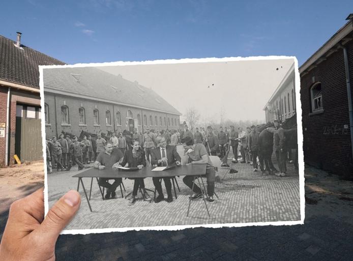 De oude paardenstal op het kazerneterrein in Ede.