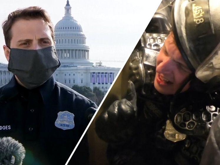 Agent Daniel was te zien in virale video waarin hij werd platgedrukt