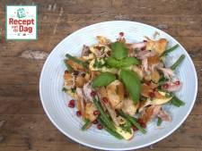 Recept van de dag: Gerookte makreel met haricots verts en granaatappel