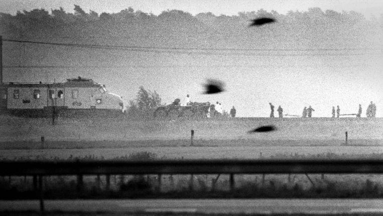 Op 11 juni 1977 werd op gewelddadige wijze een einde gemaakt aan de treinkaping door Molukkers bij De Punt. Beeld Frans Ypma / WFA