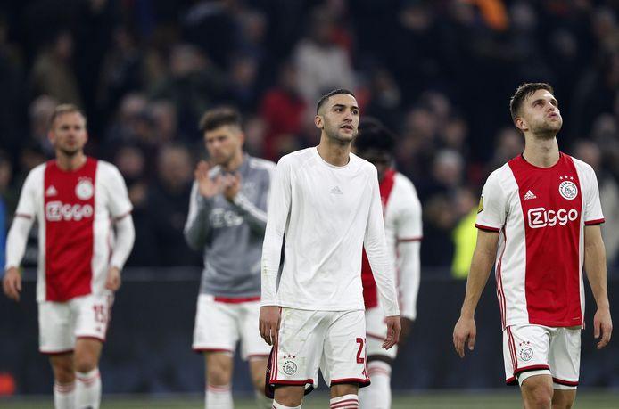 Siem de Jong, Hakim Ziyech, Joel Veltman en Klaas-Jan Huntelaar druipen af na de verrassende nederlaag tegen Willem II.