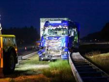 Aanrijding tussen twee vrachtwagens op A67 bij Bladel