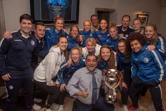 Kampioenenfeestje Gent Ladies bij Savas in Wetteren.