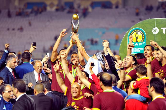 Espérance Tunis viert de winst van de Afrikaanse Champions League.