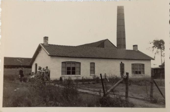 De noodwoning bij boterfabriek De Wert waar het gezin Vingerling na de oorlog nog een jaar heeft gewoond.