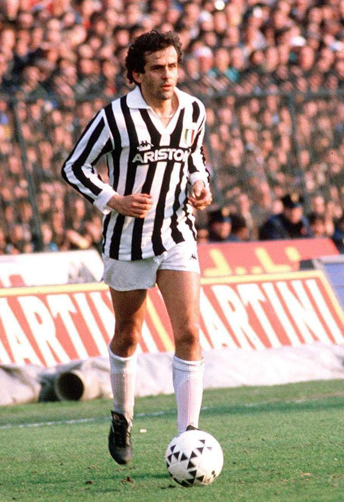 Michel Platini in het shirt van Juventus.