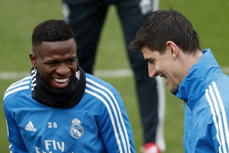Vinicius Junior en Thibaut Courtois.