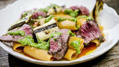Smakelijk! Loïc maakt pasta met steak en pesto