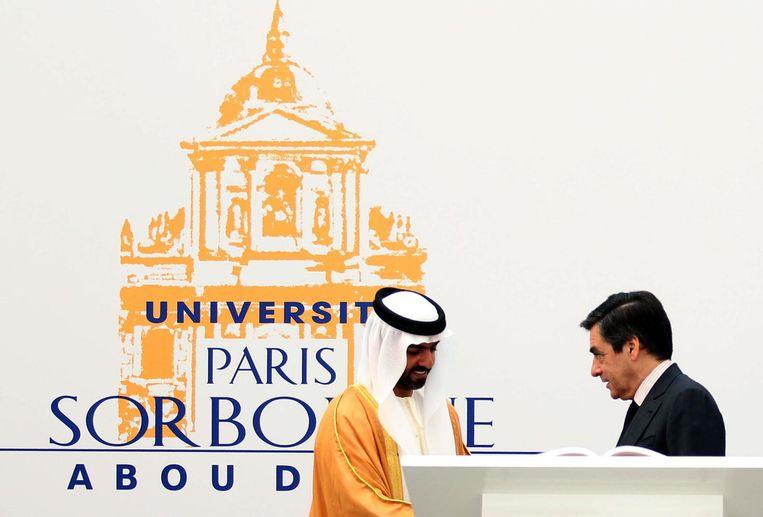 De opening van de La Sorbonne-Abu Dhabi in 2011. Beeld null