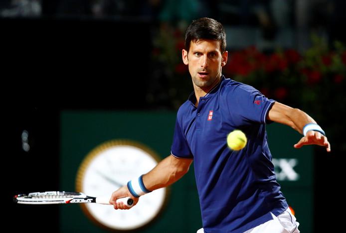 Novak Djokovic tijdens zijn partij tegen Juan Martin del Potro.