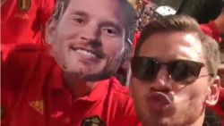 """De Belgische hoogdag op de sociale media van Rode Duivels: Dembélé wordt gepest, Batshuayi over zieke Toby: 'Te veel gedronken gisteravond'"""""""