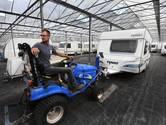 Vakantietijd: de caravans bij stalling Jongerius in Houten kunnen niet wachten